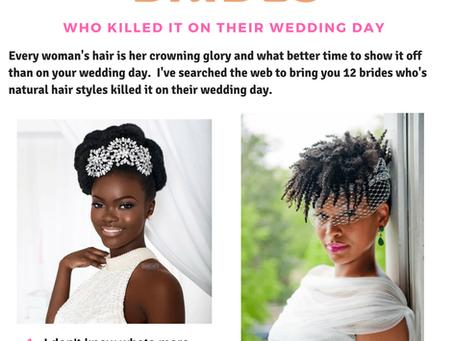Natural Hair on Wedding