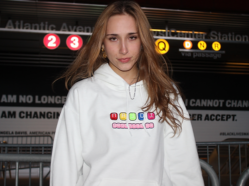 Najdi Brooklyn NY Logo Hoodie (White)