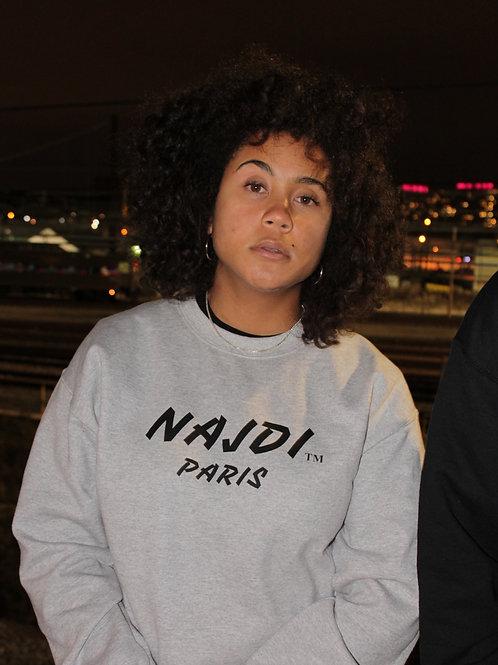 Najdi Paris Crewneck (Grey)