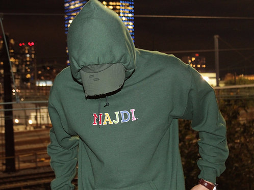 Najdi Multicolor Logo Hoodie (Green)