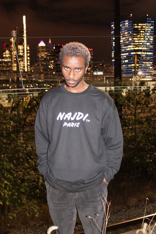 Najdi Paris Crewneck (Black)