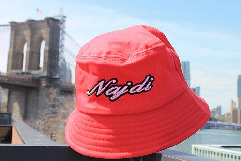 Najdi Script Bucket Hat (Red)