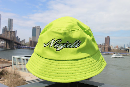 Najdi Script Bucket Hat (Neon)