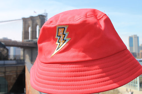 Najdi Lightning Bolt Bucket Hat (Red)