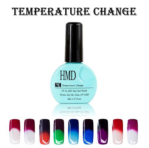 (Color # 001-009) HMD Premium Gel Nail Polish Temperature Change Coat