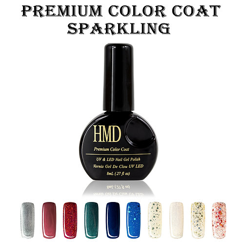 (Color # 112-121) HMD Premium Gel Nail Polish Sparkling Color Coat