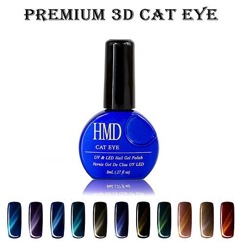 (Color # 001-011) HMD Premium Gel Nail Polish 3D Cat Eye Coat