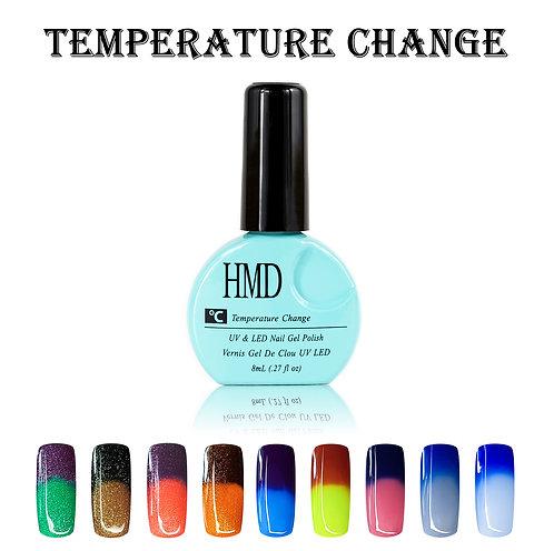 (Color # 010-018) HMD Premium Gel Nail Polish Temperature Change Coat