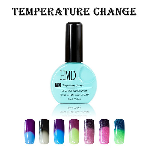(Color # 019-025) HMD Premium Gel Nail Polish Temperature Change Coat
