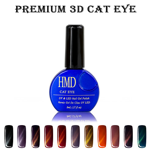 (Color # 012-022) HMD Premium Gel Nail Polish 3D Cat Eye Coat