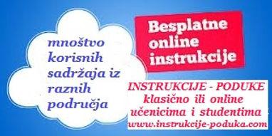 Besplatne instrukcije, poduke, repeticije, pripreme iz matematike, fizike, kemije, biologije