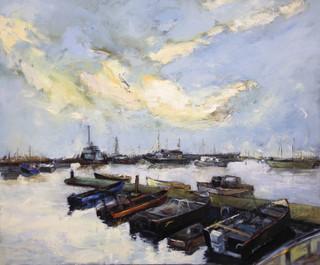 Gimli Harbour at Dusk