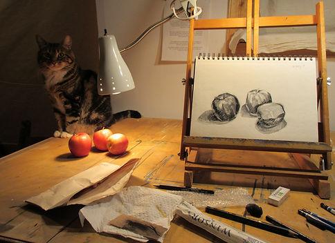 BibianaVidalCurell_still life and cat.jp