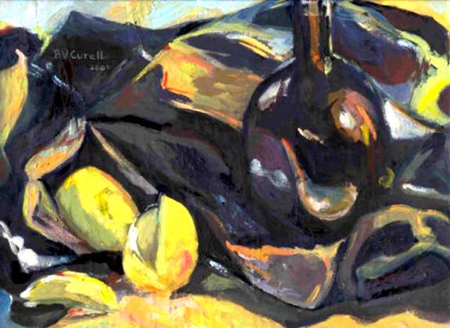 Bottle and Lemons