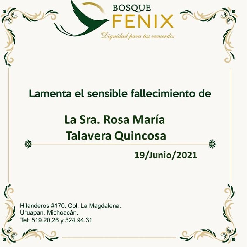 La Sra. Rosa María Talavera Quincosa