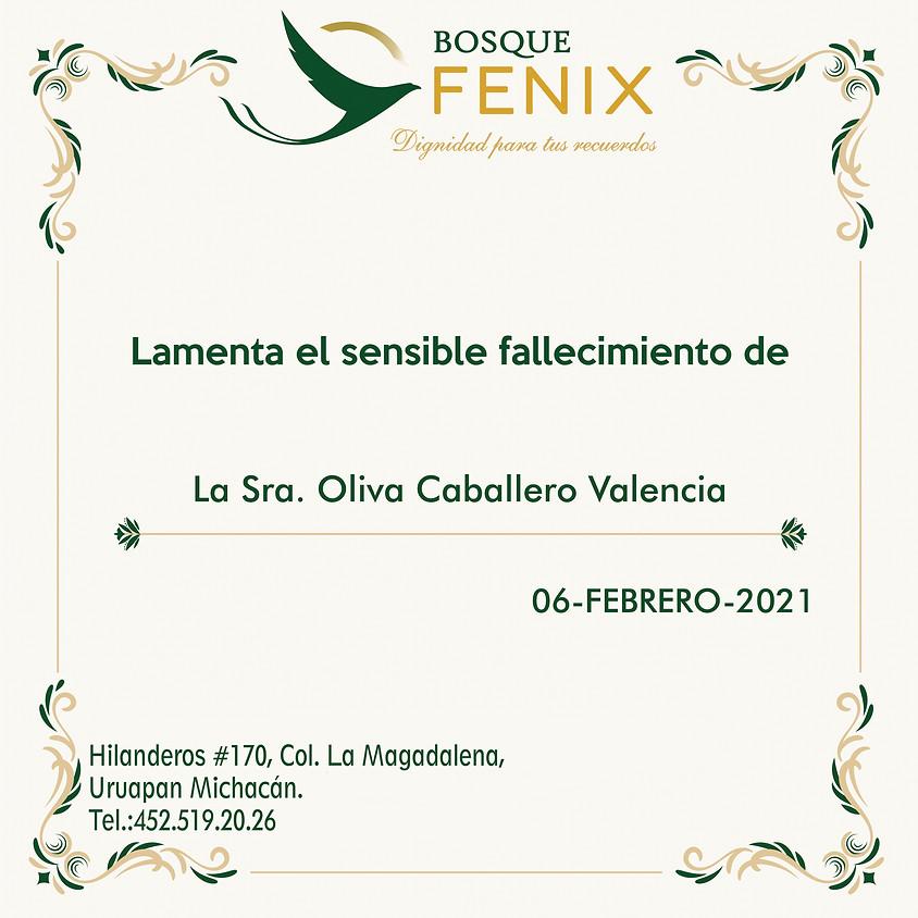 La Sra. Oliva Caballero Valencia