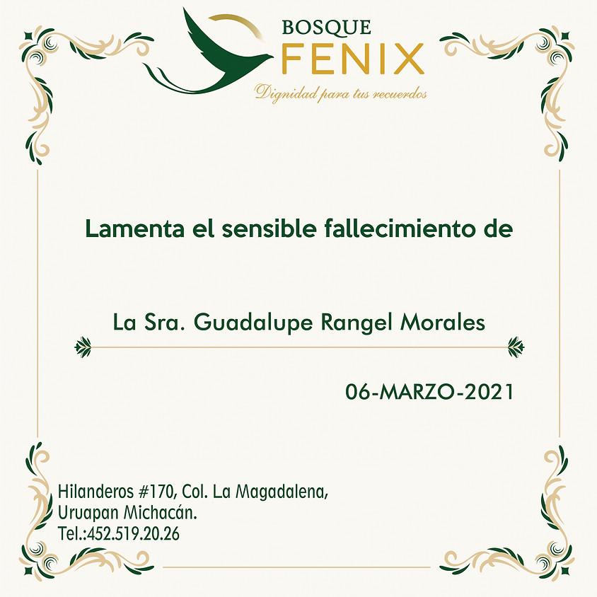 La Sra. Guadalupe Rangel Morales