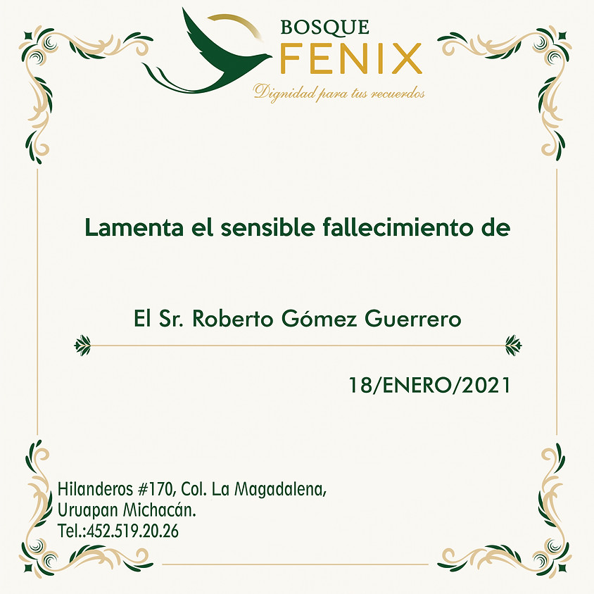 El Sr. Roberto Gómez Guerrero