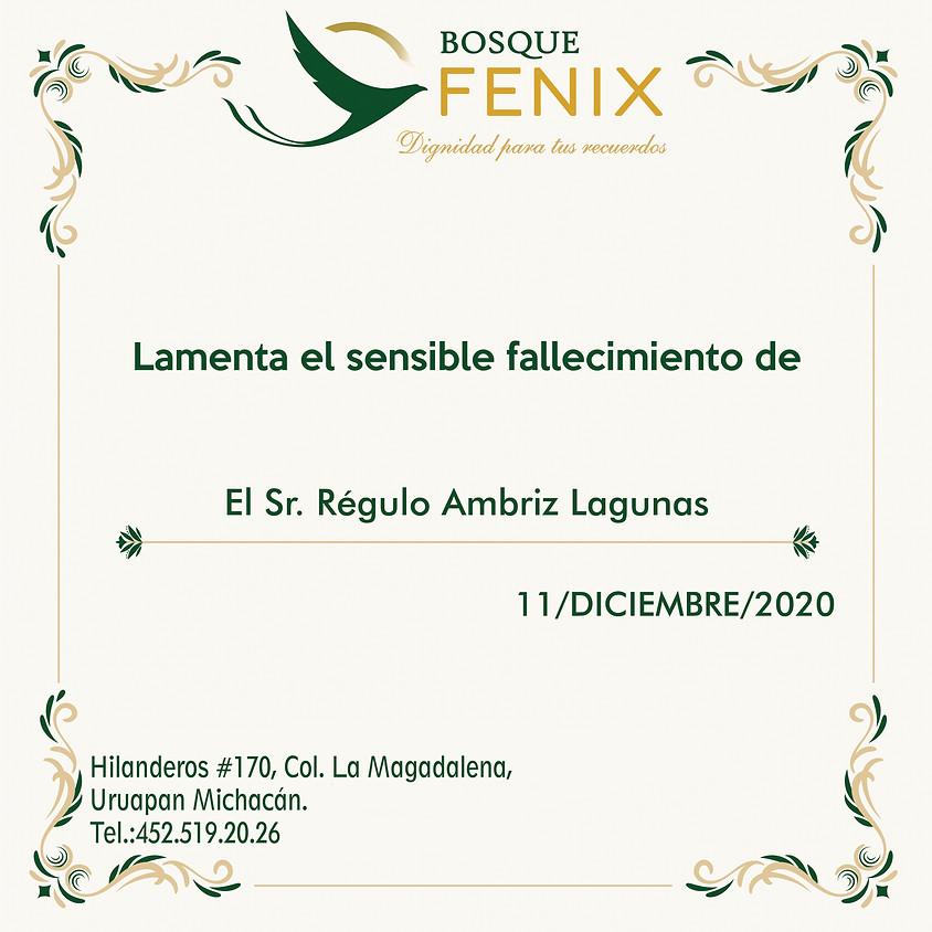 El Sr. Regulo Ambriz Lagunas