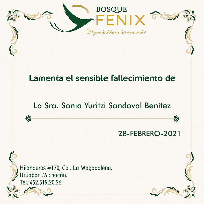 La Sra. Sonia Yuritzi Sandoval Benítez