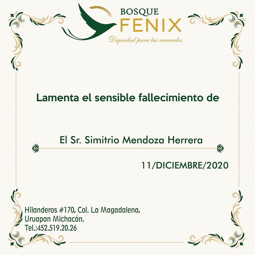 El Sr. Simitrio Mendoza Herrera