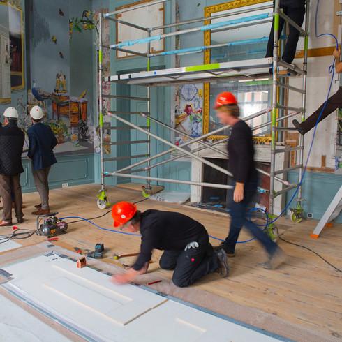 Oplevering Blauwe Salon Paleis Huis ten Bosch