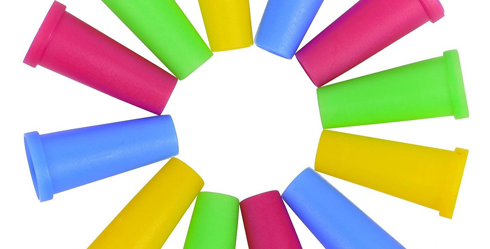 Одноразовые мундштуки для кальяна пластиковые. Разноцветные 100 шт.