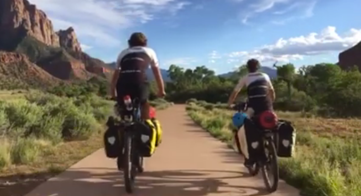 Beautiful bike lane into Zion National Park