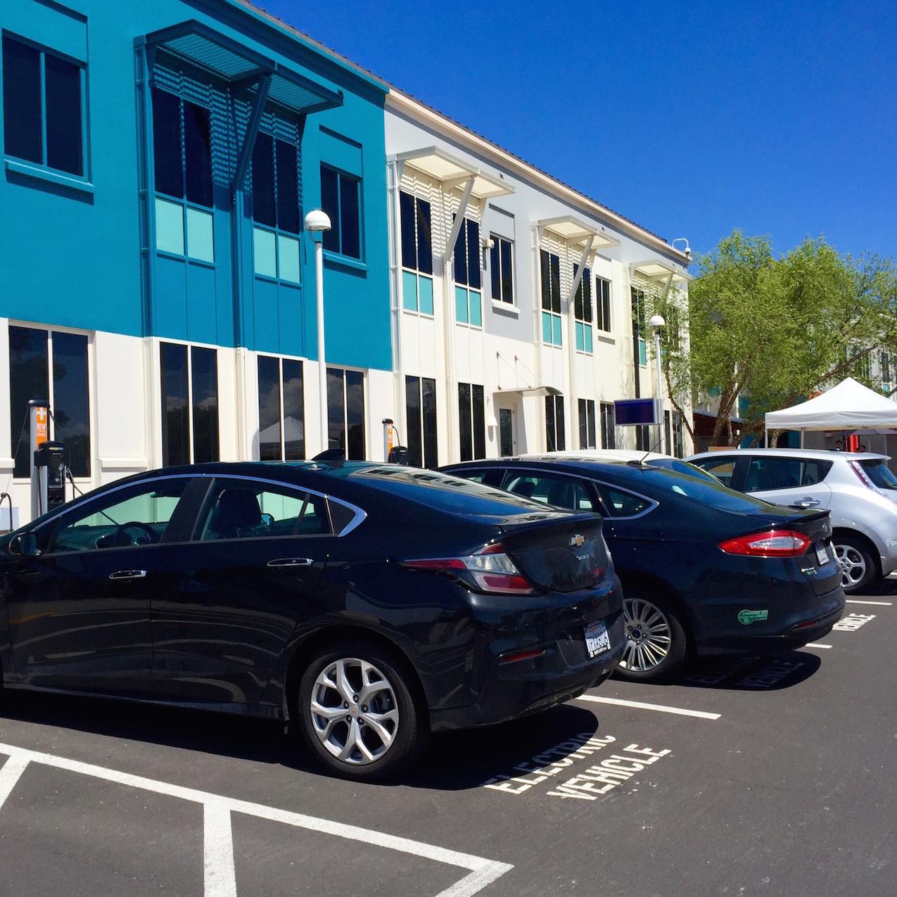 Facebook-campus-Silicon-Valley-electric-car-spyshot