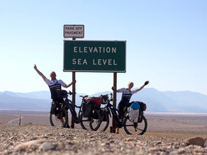 The Lowest Point of the Northern Hemisphere and 2,000 km Cycled