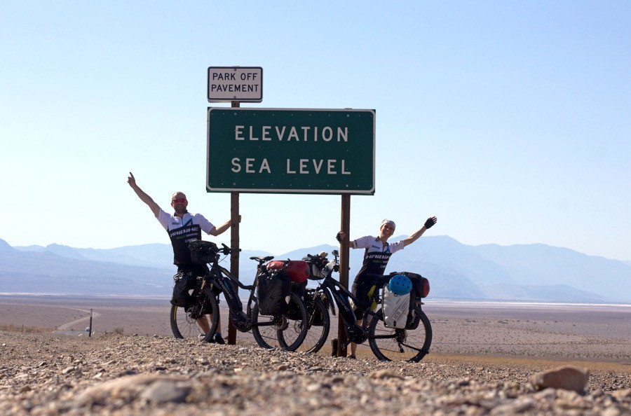 Badwater Basin on electric bicycles