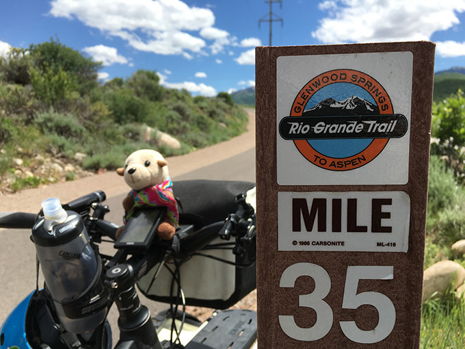 Cycling on Rio Grande Trail to Aspen with Haibike