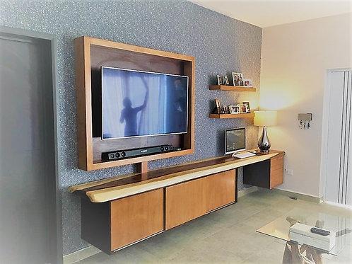 Conjunto escritorio. mueble tv