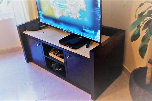 Mueble de TV coral negro