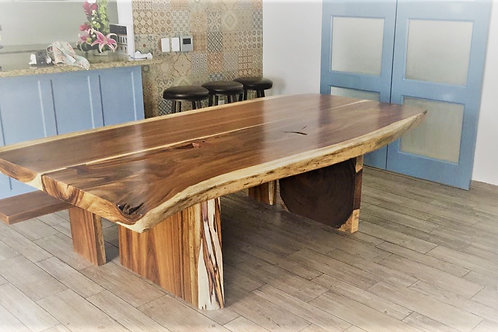 Mesa de parota 2 troncos