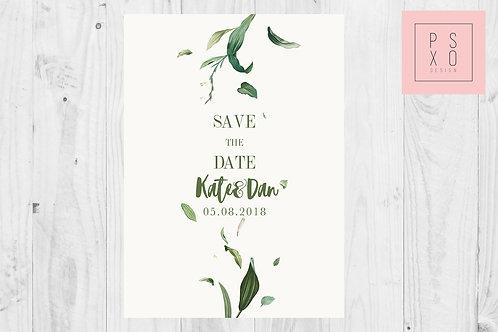 Minimalist Foliage Save The Date Magnets