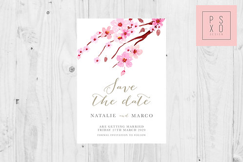 Cherry Blossom Top Design  Save The Date Magnet