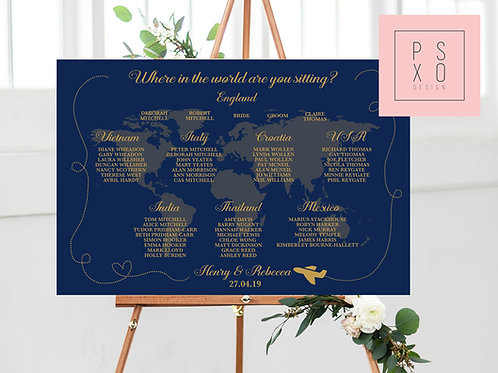Rebecca / Where In The World Are You Sitting Table Plan