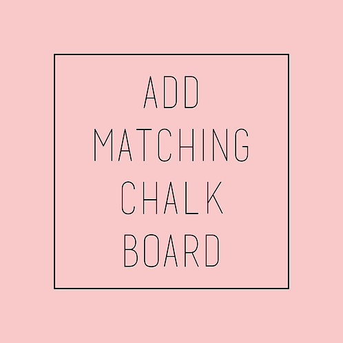 Add Matching Chalkboard