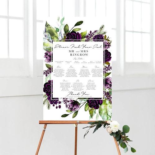 Chara Purple Table Plan