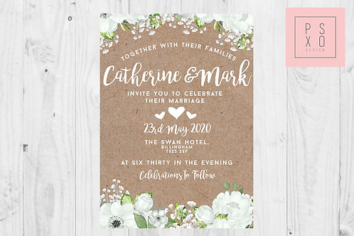 Catherine Silver Sage Sophie Wedding Invite