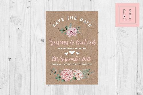 Bryony Sophie Blush Kraft Design
