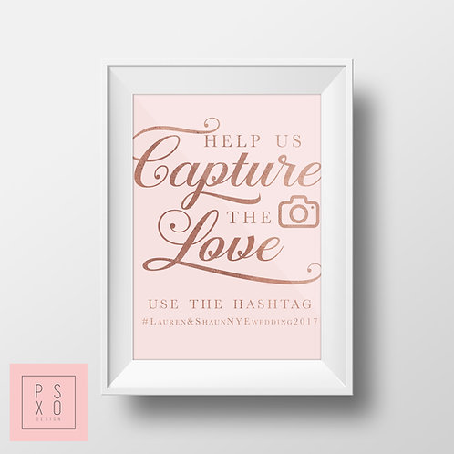 Hashtag Sign - Capture The Love