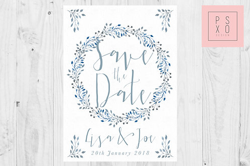 Floral Wreath Save The Date Magnets