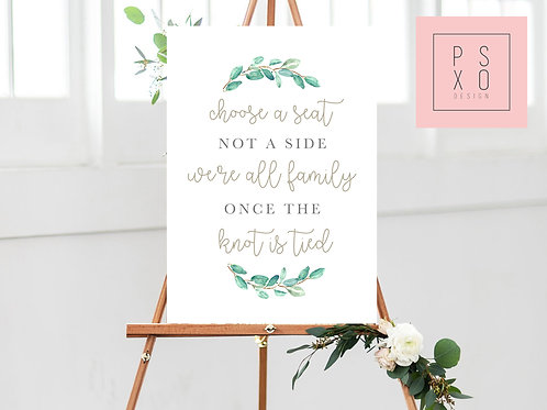 Marie - Choose A Seat, Not A Side Poster/Canvas