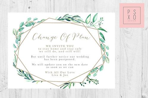 Marie Euca Geometric / Postponed Wedding / Change Of Plan /  Digital