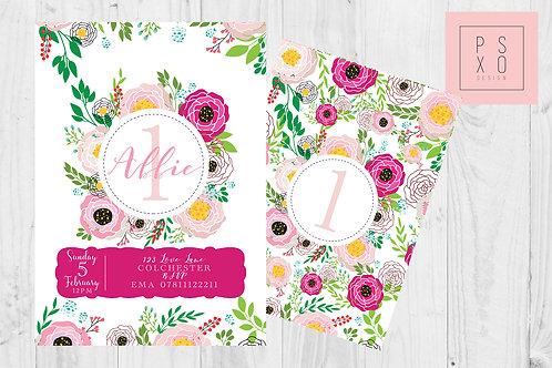Beautiful Bright Summer Floral Invite