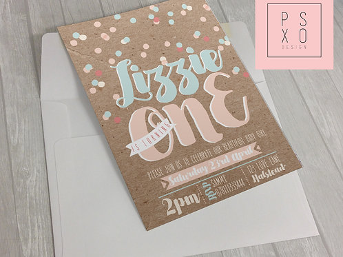 Lovely Pastel Confetti Themed Invite