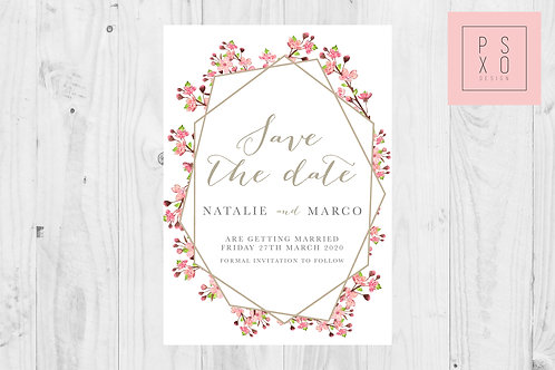 Cherry Blossom Ellie  Save The Date Magnet