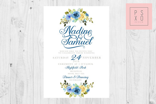 Dainty Nadine Floral Blue & Yellow Edition